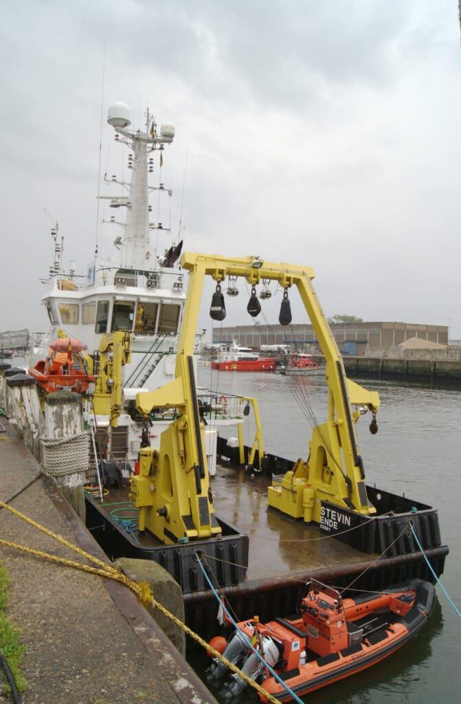 Le navire de recherche du VLIZ « RV Simon Stevin » à Ostende